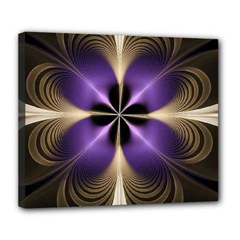 Fractal Glow Flowing Fantasy Deluxe Canvas 24  X 20   by Celenk