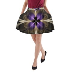 Fractal Glow Flowing Fantasy A-line Pocket Skirt