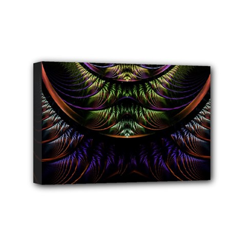 Fractal Colorful Pattern Fantasy Mini Canvas 6  X 4
