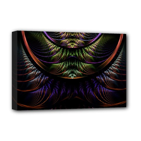 Fractal Colorful Pattern Fantasy Deluxe Canvas 18  X 12   by Celenk