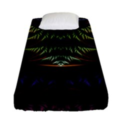 Fractal Colorful Pattern Fantasy Fitted Sheet (single Size) by Celenk