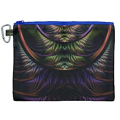 Fractal Colorful Pattern Fantasy Canvas Cosmetic Bag (xxl)