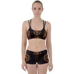 Fractal Floral Mandala Abstract Women s Sports Set by Celenk