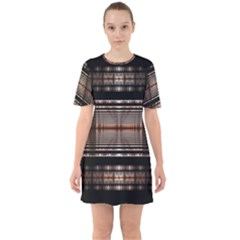 Fractal Fractal Art Design Geometry Sixties Short Sleeve Mini Dress