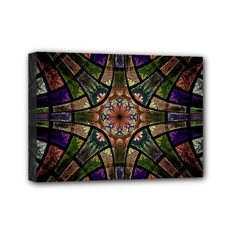 Fractal Detail Elements Pattern Mini Canvas 7  X 5  by Celenk