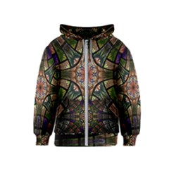Fractal Detail Elements Pattern Kids  Zipper Hoodie by Celenk