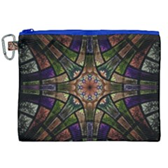 Fractal Detail Elements Pattern Canvas Cosmetic Bag (xxl) by Celenk