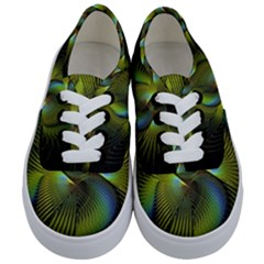 Fractal Abstract Design Fractal Art Kids  Classic Low Top Sneakers