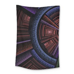 Fractal Circle Pattern Curve Small Tapestry by Celenk