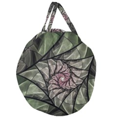 Fractal Flowers Floral Fractal Art Giant Round Zipper Tote