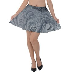 Abstract Art Decoration Design Velvet Skater Skirt