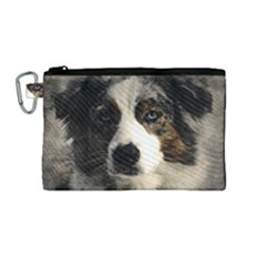 Dog Pet Art Abstract Vintage Canvas Cosmetic Bag (medium)