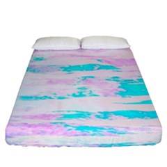 Background Art Abstract Watercolor Fitted Sheet (king Size) by Celenk