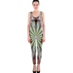 Fractal Floral Fantasy Flower Onepiece Catsuit by Celenk