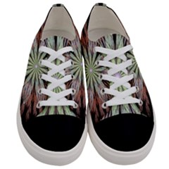 Fractal Floral Fantasy Flower Women s Low Top Canvas Sneakers