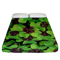 Luck Klee Lucky Clover Vierblattrig Fitted Sheet (california King Size) by Celenk