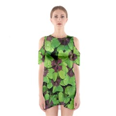 Luck Klee Lucky Clover Vierblattrig Shoulder Cutout One Piece