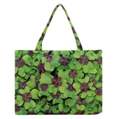 Luck Klee Lucky Clover Vierblattrig Zipper Medium Tote Bag by Celenk