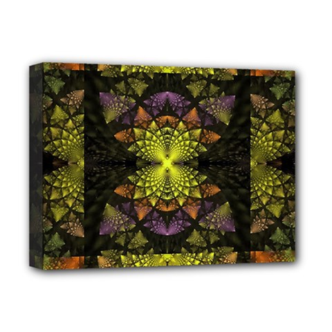 Fractal Multi Color Geometry Deluxe Canvas 16  X 12   by Celenk