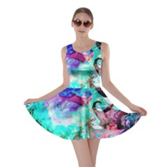 Background Art Abstract Watercolor Skater Dress
