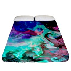 Background Art Abstract Watercolor Fitted Sheet (california King Size)