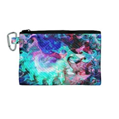 Background Art Abstract Watercolor Canvas Cosmetic Bag (medium) by Celenk