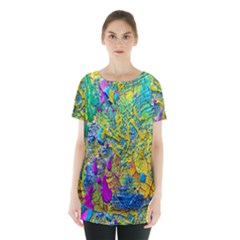 Background Art Abstract Watercolor Skirt Hem Sports Top by Celenk