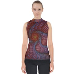 Fractal Red Fractal Art Digital Art Shell Top