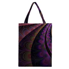 Fractal Colorful Pattern Spiral Classic Tote Bag by Celenk