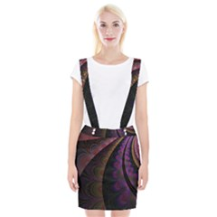 Fractal Colorful Pattern Spiral Braces Suspender Skirt