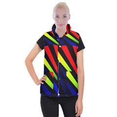 Graphic Design Computer Graphics Women s Button Up Puffer Vest