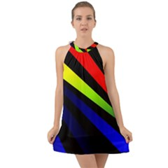 Graphic Design Computer Graphics Halter Tie Back Chiffon Dress by Celenk