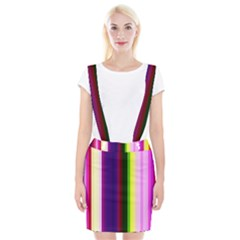 Abstract Background Pattern Textile 2 Braces Suspender Skirt