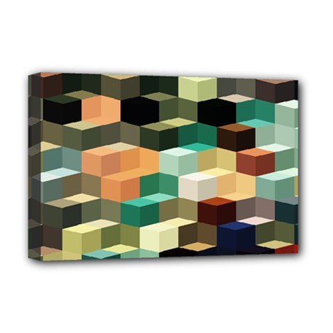 Art Design Color Pattern Creative 3d Deluxe Canvas 18  X 12   by Celenk