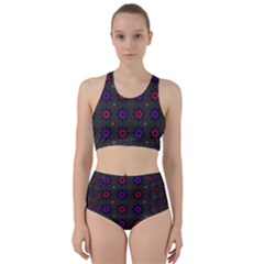 Funds Texture Pattern Color Racer Back Bikini Set