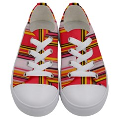 Abstract Background Pattern Textile Kids  Low Top Canvas Sneakers