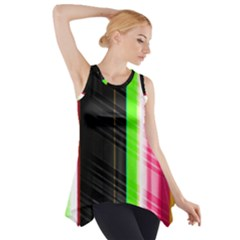 Abstract Background Pattern Textile Side Drop Tank Tunic