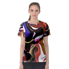 Abstract Background Design Art Women s Sport Mesh Tee