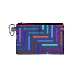 Lines Line Background Abstract Canvas Cosmetic Bag (small)