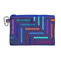 Lines Line Background Abstract Canvas Cosmetic Bag (large) by Celenk