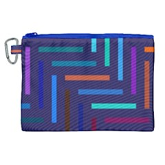 Lines Line Background Abstract Canvas Cosmetic Bag (xl) by Celenk