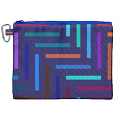 Lines Line Background Abstract Canvas Cosmetic Bag (xxl)