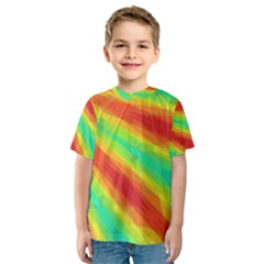 Graphic Kaleidoscope Geometric Kids  Sport Mesh Tee
