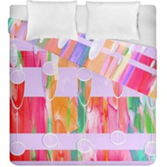 Watercolour Paint Dripping Ink Duvet Cover Double Side (king Size)