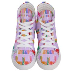 Watercolour Paint Dripping Ink Women s Hi-top Skate Sneakers