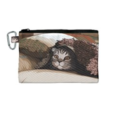 Cat Kitten Cute Pet Blanket Sweet Canvas Cosmetic Bag (medium)