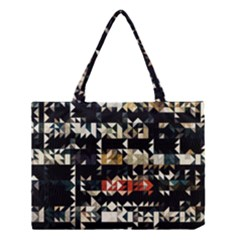 Art Design Color Banner Wallpaper Medium Tote Bag by Celenk