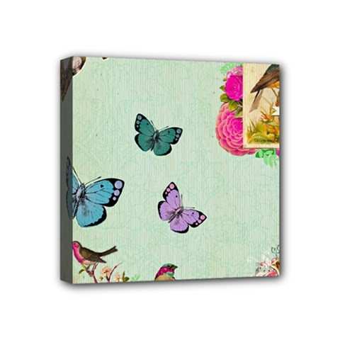 Whimsical Shabby Chic Collage Mini Canvas 4  X 4  by 8fugoso