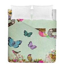 Whimsical Shabby Chic Collage Duvet Cover Double Side (full/ Double Size) by 8fugoso