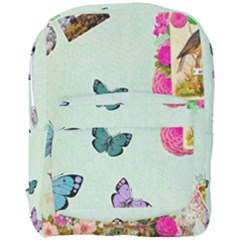 Whimsical Shabby Chic Collage Full Print Backpack by 8fugoso